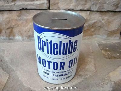 Brite Lube Motor Oil Can Advertising Display Oil Can Bank