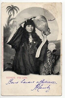 EGYPTE costumes personnages types  fille arabe