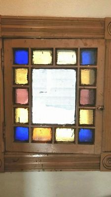 Vintage Multi-color Stained Glass Window
