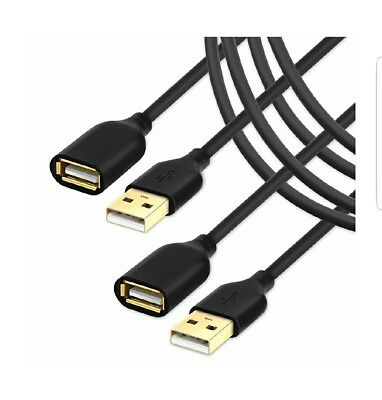 6 FT USB Cable Extension 2 Pack USB 2.0 Extension Cord Extender cable Male to...
