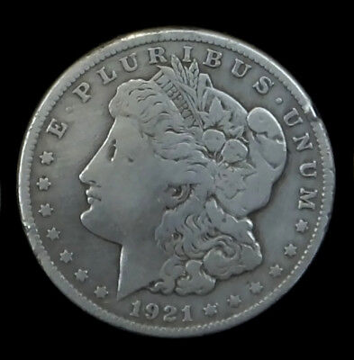 1921-S $1 Morgan Silver Dollar VG Cleaned #522E