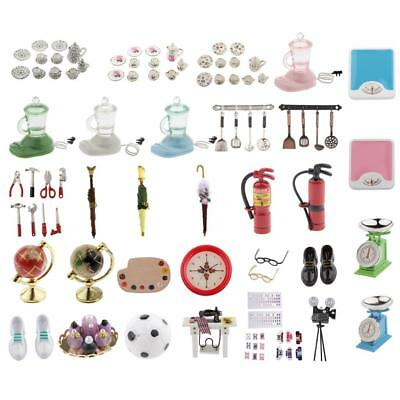 1/12 Scale Dolls House Miniture Kitchen Room Furniature Home Decor Accessories