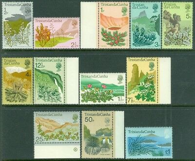 EDW1949SELL : TRISTAN 1972 Scott #162-73 Flowers Complete set VF MNH Catalog $27