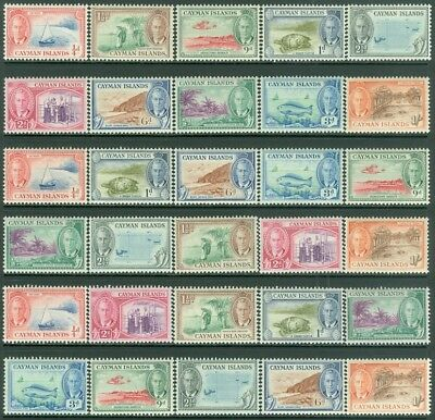 EDW1949SELL : CAYMAN 1950 Sc #122-31. 3 Mint sets up to 1 shilling value Cat $79