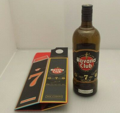Havana club 7 Rum bottle and box 100 Cl EMPTY COLLECTABLE