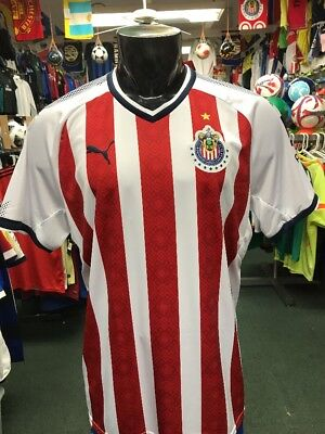 8ba594c91 PUMA MEN S 17 18 Chivas Home Stadium Jersey (Red White) Size XL ...