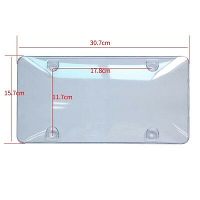 2 Clear License Plate Tag Frame Cover Bubble Shields Protector for Cars Trucks