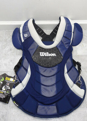 "Wilson  ProMOTION Fastpitch Catchers Chest Protector Navy 16.5"" NWT Adult"