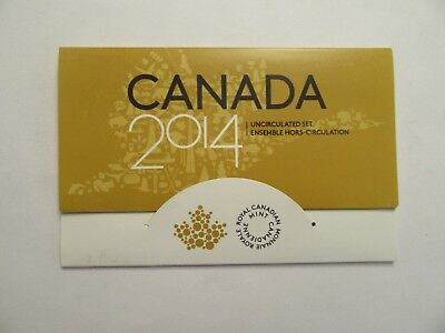 2014 Canada Uncirculated Set, 6 coins, mint package
