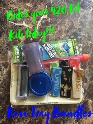 Raw Rolling Papers Tobacco Rolling Tray Bundle! **FREE SHIPPING** 13 Items!