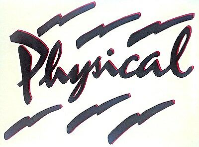 """Vintage 80s PHYSICAL"""" Iron On Transfer  LAST ONE! Rock Sayings"""