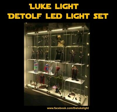 LED light Kit for Ikea Detolf (with BRIGHTNESS CONTROLLER) - Cosy Warm Tone