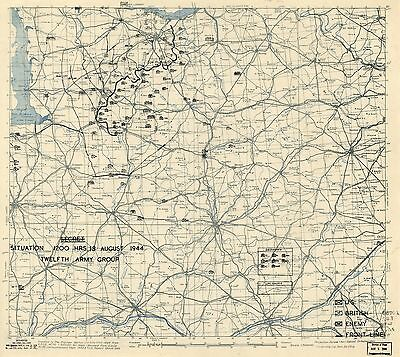 BATTLE BULGE NORMANDY INVASION Daily Situation Map war WW2 WWII battle DVD