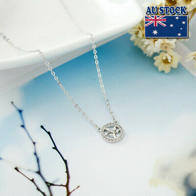 NEW Genuine 925 Sterling Silver Tree of Life Pendant Necklace Chain Pretty GIFT
