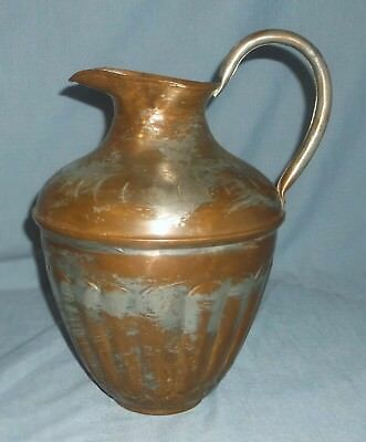 Vintage Copper Plated Aluminum Large Ewer Pitcher Hand Crafted ?