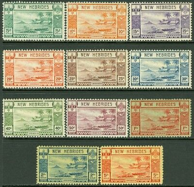 EDW1949SELL : NEW HEBRIDES 1938 Scott #50-60 Very Fine, Mint OG Catalog $141.00.