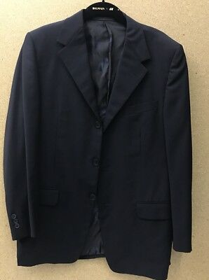 Beautiful Vintage GIANNI VERSACE 80s Navy single breasted suit Jacket 50/L -A16