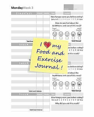 I LOVE MY Food And Exercise Journal PicClick