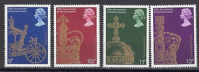 Elizabeth II 1978 25th Anniv of the Coronation SG 1059 to 1062 set MNH
