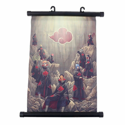 Japanese Anime Naruto Akatsuki Wall Scroll Poster 30x21cm DIY Craft Home Decor
