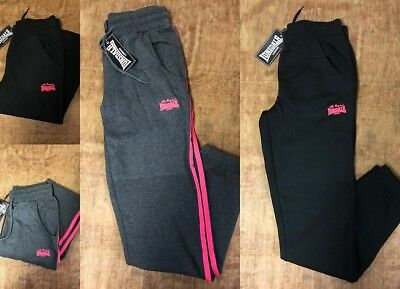 Lonsdale London Ladies Kids Fleece Jogging Pants Tracksuit Bottoms Sweatpants
