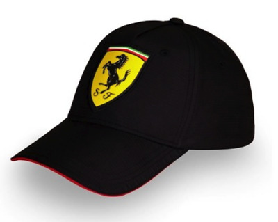 ORIGINAL FERRARI CAP   Cap Baseball Cap Black in Carbon-Fibre Looks ... c0e97669f98
