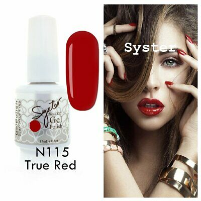 SYSTER 15ml Nail Art Soak Off Color UV Gel Polish N115 - True Red