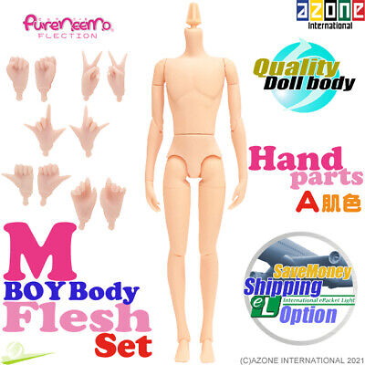 AZONE Pure Neemo FLECTION M Boy Body & Hand parts A set Natural Blythe Doll NEW