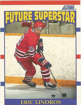 1990-91 Eric Lindros Rc #440 Score American Rookie Future Superstar