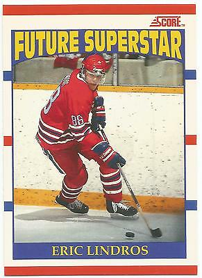 1990-91 Eric Lindros Rc #440 Score Canadian Rookie Future Superstar