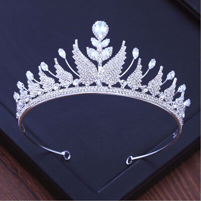 6.5cm High Clear CZ Crystal Large Wedding Bridal Party Pageant Prom Tiara Crown
