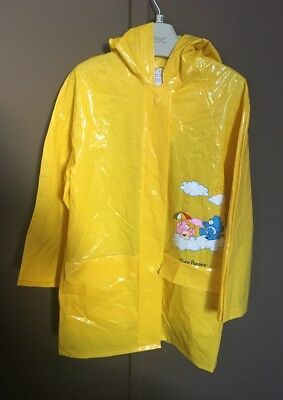 Childs Retro/Vintage 80s Care Bears PVC Coat With Hood Jacket age 3-4 Years Rare