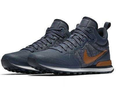 new concept 55868 0bf2d New Nike Internationalist Mid Utility Mens Size 12 Shoes Blue Brown 857937  401