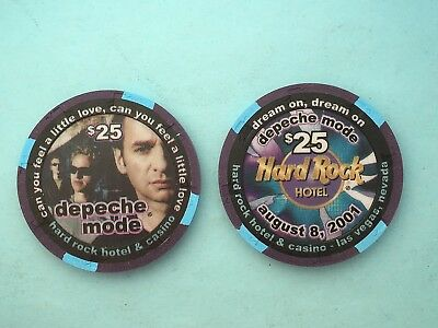 Hard Rock  depeche mode  $25 Casino Chip - Mint/New