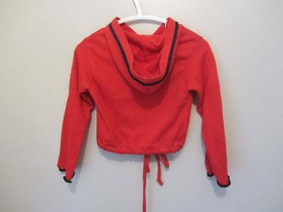 girls vintage red hoodie sports top 18 months embroidery new 60's