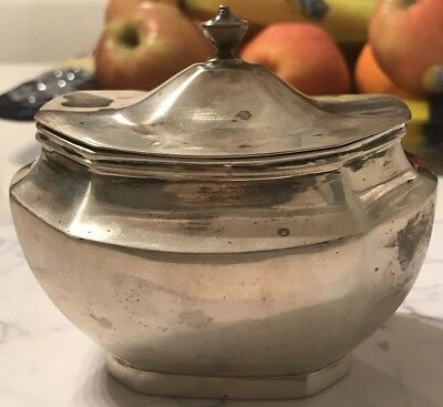 Antique Sterling Silver Lionel Alfred Crichton London Sugar Bowl