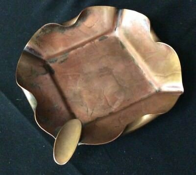 Craftsmen Inc Vintage Copper Hammered Ashtray Holder Handsome