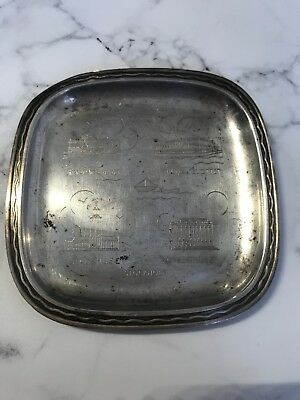 Vintage Sterling Silver Sweden C.g Hallberg Stockholm Advertising Coin Tray