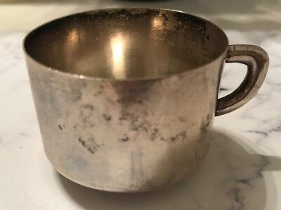 Antique Sterling Silver Circa 1930S Mexican Taxco Baby Cup