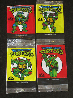 Teenage Mutant Ninja Turtles Set of 4 Cartoon Card Wrapper Regina 1989 TMNT Rare
