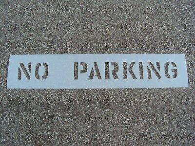 "6"" NO PARKING Parking Lot Stencil 1/16"" 60 Mil LDPE Best Mat'l Readable Reusable"