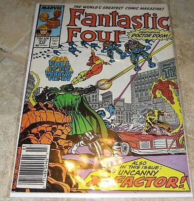 Fantastic Four Vol 1 #312 VG Fall of the Mutants Newstand Edition Marvel Comics