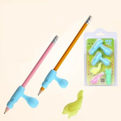 Children Pencil Holder Pen Writing Aid Grip Posture Correction Device Tool 1Set