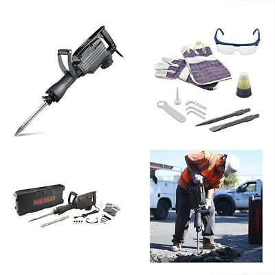 Neiko Categories 02845A Electric Demolition Jack Hammer With Point And Flat Bits