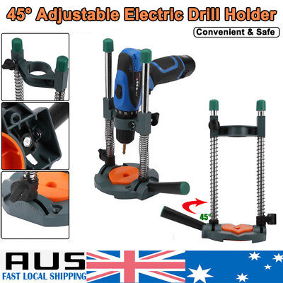 Drill Guide Drill Stand 45° Adjustable Electric Drill ∅ 43mm Mobile Swivel AU