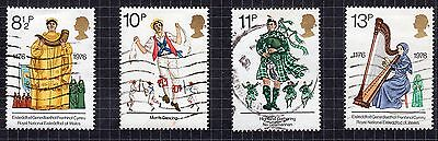 1976 British Cultural Traditions SG 1010 to 1013 set Very Good Used R6815