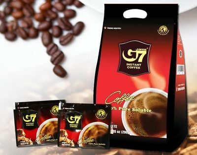 G7 Pure Black Instant Coffee SACHETS Trung Nguyen Vietnamese Coffee 2g x 100_VG