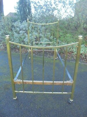 Antique Brass Framed Single Bed