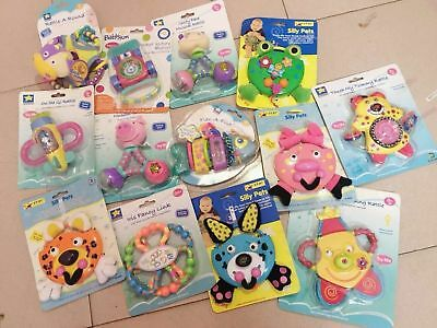 Baby Kids Children Toddlers Various Adorable Click Clank Activity Rattles Toy