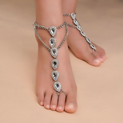 BAREFOOT SANDALS Beach Wedding Foot Jewelry Beaded Ivory Pearl